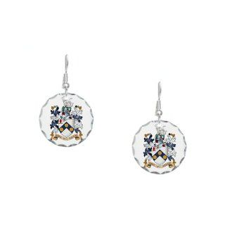 James Bonds coat of arms The world is not enough Earring Circle Charm   Standard Multi color Jewelry