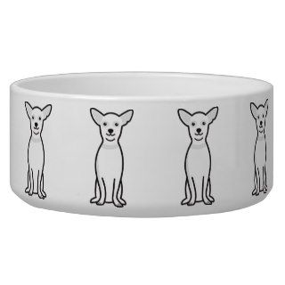 Chihuahua Dog Cartoon Dog Bowls
