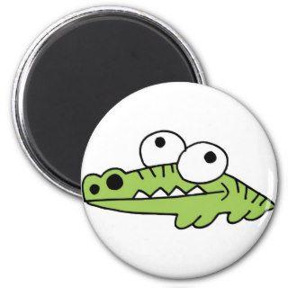 Alligator Crocodile Gator Croc Cartoon Caricature Refrigerator Magnets