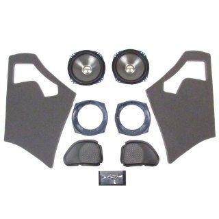 J&M Rokker Series XT 7.25in. Fairing Speaker Upgrade Kit for Harley Davidson 20 Automotive