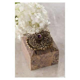 Butterfly & Crystal Square Soapstone Box : Decorative Boxes : Everything Else