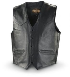 Guide Gear Leather Concealment Vest Black, BLACK, XL Clothing