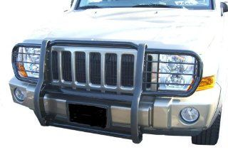 Dodge Ram 1500 Pickup Dodge 1500 One Piece Grill/Brush Guard Black Grille Guards & Bull Bars Stainless Products Performance Automotive