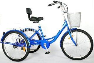 """24"""" Adult Tricycle 6 Speed Trike  Sports Fan Tire And Wheel Covers  Sports & Outdoors"""