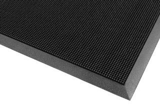 "Notrax 345 Rubber Brush Styrene Butadiene Rubber Entrance Mat, For Construction Traffic Area and Municipal Buildings, 24"" Width x 32"" Length x 5/8"" Thickness, Black: Industrial & Scientific"