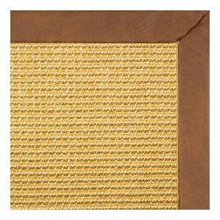 Honey Sisal Rug with Rawhide Novo Leather Binding   4x6   Natural Fiber Rugs