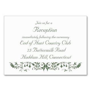 Catholic Wedding Set Reception Insert Template CC Business Card Templates