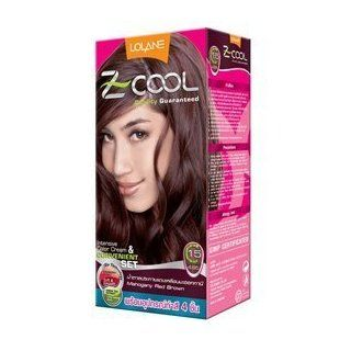 Lolane Z Cool color Cream Chic Mahogany Hair color Mahogany Red Brown C15: Health & Personal Care
