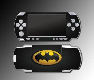Original Retro Batman Logo Bat Man Signal Cartoon Comic Movie TV Show Video Game Vinyl Decal Skin Protector Cover Kit for Sony PSP 1000 Playstation Portable Console System: Video Games