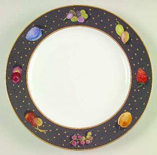Sasaki China Ravenna Charcoal Salad Plate, Fine China Dinnerware   Fruit&Leaves
