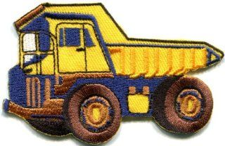 Dump Truck Dumper Tip Truck Tipper Lorry Retro Applique Iron on Patch New S 431 Made of Thailand