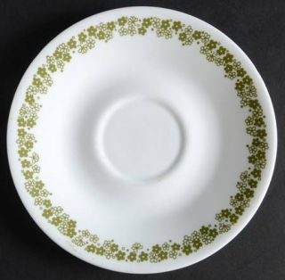 Corning Spring Blossom Saucer for Flat Cup, Fine China Dinnerware   Corelle,Gree