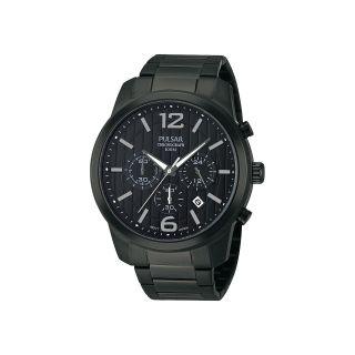 Pulsar Mens Black Chronograph Watch