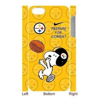 NFL Pittsburgh Steelers iPhone 5 Case Funny Snoopy Nike Logo Prepare For Combat Football Series Yellow Hard Cases Cover at NewOne Electronics