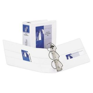 Avery Durable View Binder with Two Booster EZD Rings, 5 Capacity   White