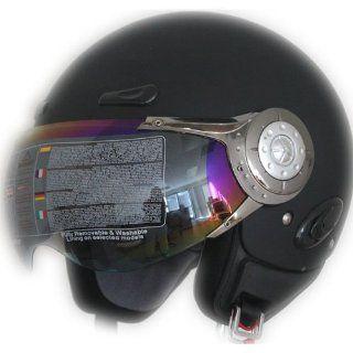 Open Face Jet Pilot Helmet Flat Black (xs) Automotive