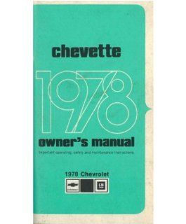 1978 Chevrolet Chevette Owners Manual User Guide Reference Operator Book Fuses Automotive