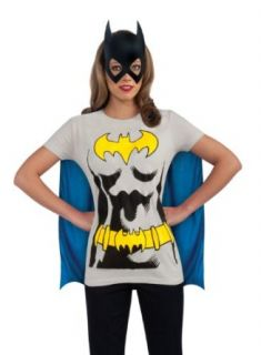DC Comics Batgirl T Shirt With Cape And Mask: Clothing