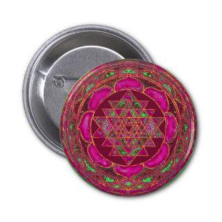 Sri Lakshmi Yantra Mandala Buttons