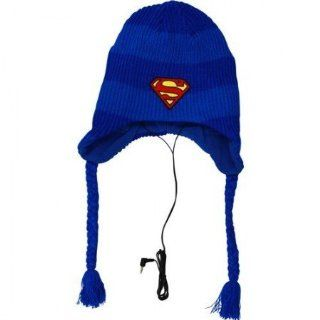 Superman Logo Headphone Official Laplander Beanie : Sports Fan Beanies : Sports & Outdoors