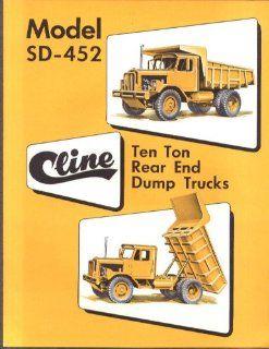 Cline Model SD 452 10 Ton Rear End Dump Trucks sales folder 1958 Entertainment Collectibles