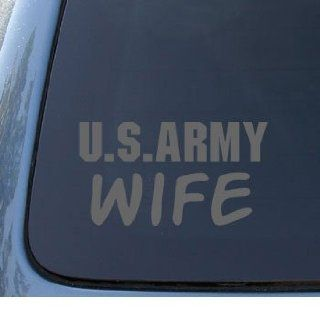 U.S. ARMY WIFE   Military   Car, Truck, Notebook, Vinyl Decal Sticker #1169  Vinyl Color Silver Automotive