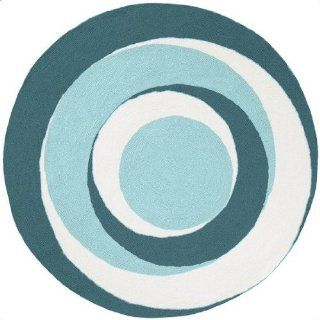Surya PLY 6028 Playground Kids Round Area Rug, 8 Feet, Blue