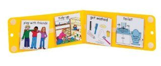 Portable PECS Mini Schedule Board : Special Needs Educational Supplies : Office Products