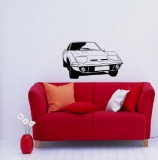 Car Auto Automobile Retro Old Garage Wall Vinyl Decal Art Design Mural Modern Interior Decor Bedroom Sticker Removable Room Window (SV3221)
