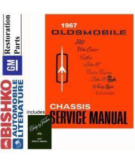 1967 Oldsmobile 98 88 442 Cutlass Shop & Body Service Repair Manual CD Engine Automotive