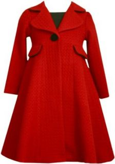 Bonnie Jean Girls 2 6x Boucle Dress And Coat Set, Red, 6x Clothing Sets Clothing
