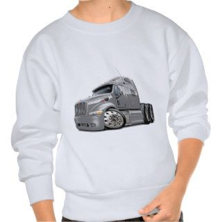 Peterbilt Silver Truck Pullover Sweatshirts