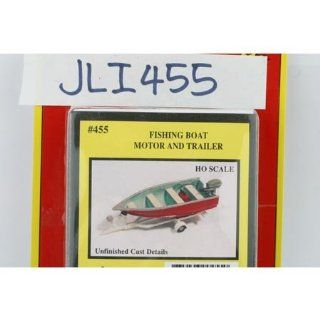 FISHING BOAT, MOTOR, TRAILER   JL INNOVATIVE DESIGN HO SCALE MODEL TRAIN ACCESSORIES 455 Toys & Games