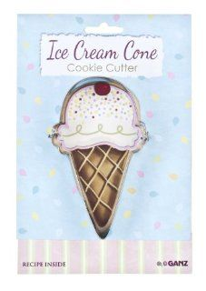 Ice Cream Cone Cookie Cutter   Ganz Birthday Cookie Cutter: Toys & Games