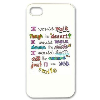 Custom One Direction Cover Case for iPhone 4 4s LS4 3223: Cell Phones & Accessories