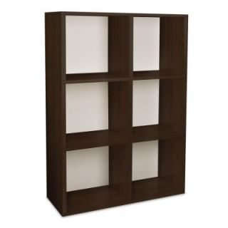 Way Basics Tribeca 32.1 in. L x 44.8 in. H Espresso zBoard, Eco Friendly, Tool Free Assembly, Stackable 6 Cube Organizer PS 285 815 1150 EO