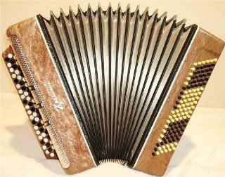 Excellent Concert Russian Button Accordion Bayan Kreminne120 Bass Super Sound Musical Instruments