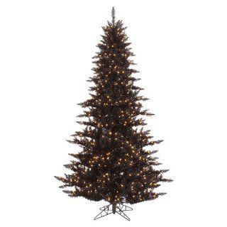 Vickerman Black Fir Christmas Tree 7.5 foot   Palm Plant Potted Storage