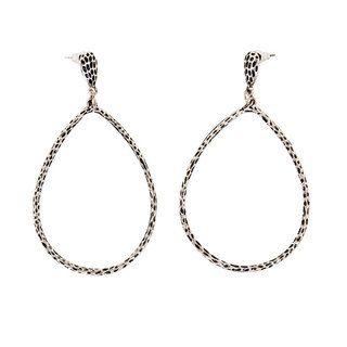 NEXTE Jewelry Antiqued rhodium finish Brass Hollow Teardrop Dangle Earrings NEXTE Jewelry More Earrings