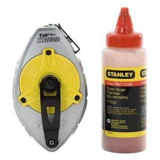 Stanley 47 483 100 FatMax Xtreme Chalk Box 2 Piece Set with 4 oz Bottle of Stanley Red Chalk   Chalk Lines
