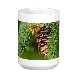 Christmas Evergreen Pine Cone Needles Tree Trees Mug