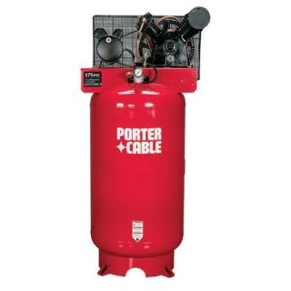 Porter Cable 175 PSI 2 Stage 80 Gallon Oil Lube Stationary Air Compressor Tools