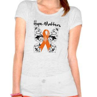Kidney Cancer Hope Matters (Orange Ribbon) T shirt