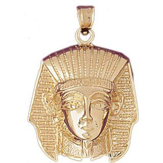 14K Yellow Gold King Tut Pendant: Pendant Necklaces: Jewelry