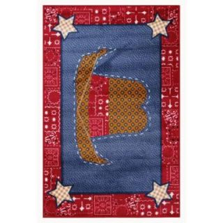 LA Rug Inc. Supreme Cowboy Quilt Multi Colored 39 in. x 58 in. Area Rug TSC 245 3958