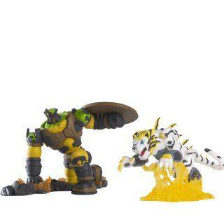 """Bakugan 2"""" Duo Dioramas Bakugan Tigrerra Vs Gorem: Toys & Games"""