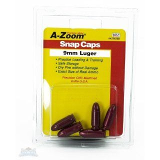 A Zoom 9Mm Luger Precision Snap Caps (5 Pack) : Gun Ammunition And Magazine Pouches : Sports & Outdoors