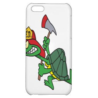 funny fireman firefighter turtle cartoon iPhone 5C covers