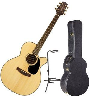Takamine EG440SC G Series Acoustic Electric Guitar w/ Hardshell Case and Guitar Stand Musical Instruments