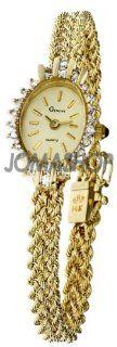Geneve 14k Yellow Gold Diamonds Ladies Rope Bracelet Watch OG 503: Geneve: Watches